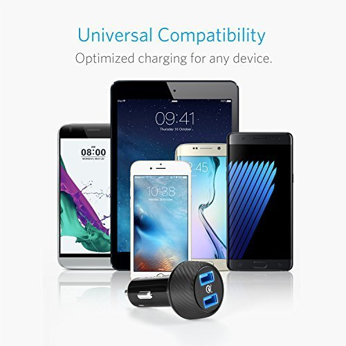 Anker 39W Dual USB Car Charger with Quick Charge 3.0, PowerDrive Speed 2 for Galaxy S7/S6/Edge/Plus, PowerIQ for iPhone X/8/7/6s/Plus, iPad Pro/Air 2/mini, LG, Nexus, HTC and More by Anker (Image #6)