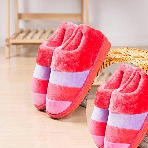 LaxBa Donna Uomo Piscina antiscivolo pantofole pattini 2a doppia femmina rosso anguria 36/37+40/41