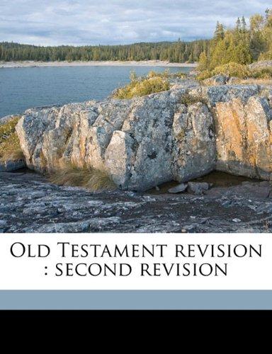 Old Testament revision: second revision Volume 2 pdf epub