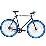 Golden Cycles Fixed Gear Bike Steel Frame Fixie with Deep V Rims-Collection (Magic, 52)