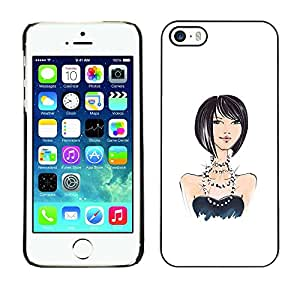 Plastic Shell Protective Case Cover || Apple iPhone 5 / 5S || Design Fashion White Black @XPTECH