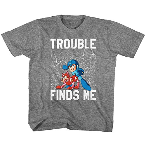 American Classics Mega Man Trouble Graphite Heather Youth T-Shirt Tee