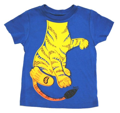 Child Tiger Costume At Zoo (Peek A Zoo Toddler Become an Animal Short Sleeve T shirt - Tiger Royal Blue (3T))