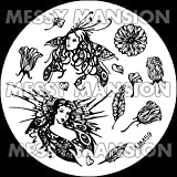 MESSY MANSION MM59 Nail Art Stamping Plate - Fairy Girls