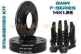 4 Pc 10mm & 12mm Staggered Bmw Black Hub Centric Wheel Spacers 5x120 - 72.56 H.B - F30 F31 320 328 335 F80 M3 F32 F82 M4 435 F22 F23 228 235 F10 528 535 M5 F11