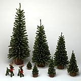 4'' Mini Pine Tree 54 Tips Wood Base