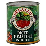 DeLallo Tomato in Juice, Diced, 28-ounces (Pack of12)