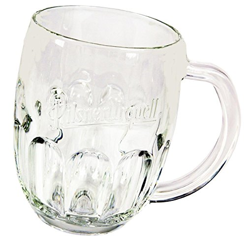 Pilsner Urquell Beer Mugs Set Of 2 Pieces Pint, 0.5 Litre Lined