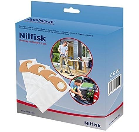 Nilfisk Genuine Buddy II Vacuum Cleaner Dust Bags 4 Pack 81943048 by Nilfisk: Amazon.es: Hogar