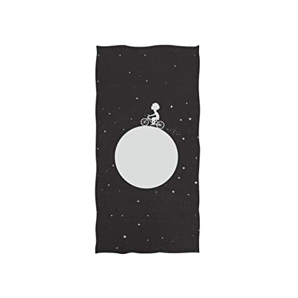 Amazoncom Naanle Little Boy Around Moon On Bicycle Outer Space