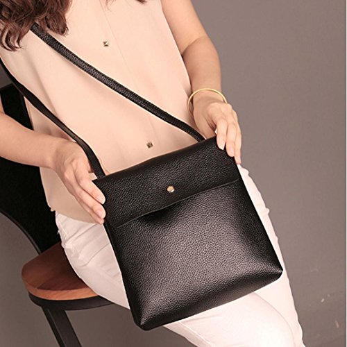 Rucksack Satchel Leather Inkach Bag School Bags Travel Womens Purse Backpack Fashion Black IIvYap