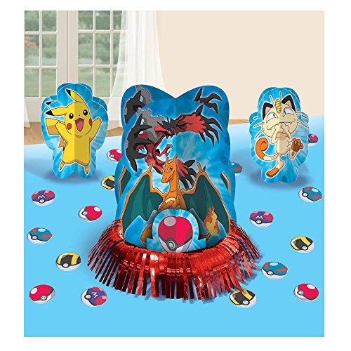 23pc Pikachu & Friends Pokemon Birthday Party Table Centerpiece Decoration Kit (Store Decorations)