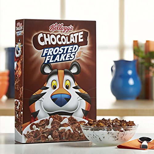 Kellogg's Breakfast Cereal, Chocolate Frosted Flakes, Low Fat, 10.2 oz Box(Pack of 14) by Kellogg's (Image #3)