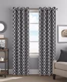red and gray curtains - Colordrift Camden 54 x 84 Inches Curtain with Grommet Finish - Gray