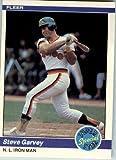 1984 Fleer Baseball Card IN SCREWDOWN CASE #628 Steve Garvey Near Mint Or Better