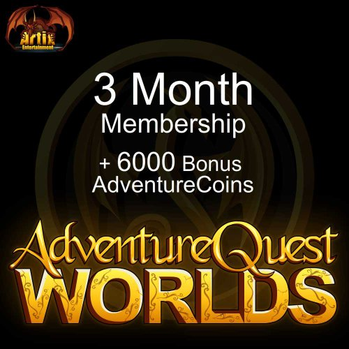 3 Month Membership And 6000 Ac  Adventurequest Worlds  Instant Access