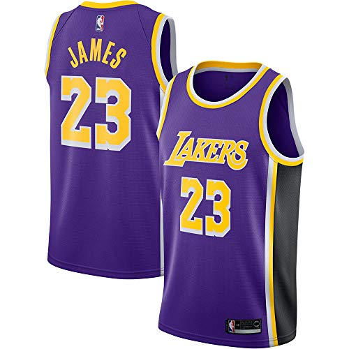 867ad8a9297 Men s Los Angeles Lakers Lebron James Replica Swingman Jersey  23- Purple
