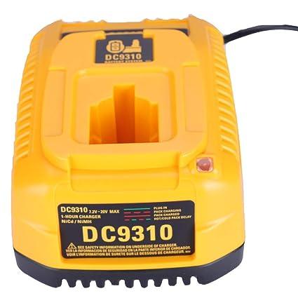 Para Dewalt 7.2V - 18V NI-CD NI-MH Cargador de batería para DC9310 DW9116 DE9130 DE9310 Accesorio de herramienta eléctrica para taladro