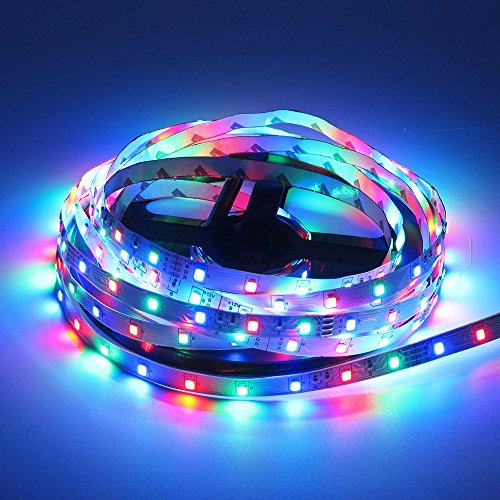 49.2ft / 15M RGB LED Strip Light, 20 Key IR Remote Music Controller, SMD 3528 RGB Color Changing Tape Light Full kit,(3x16.4ft Non-Waterproof Strip) by Firstsd (Image #1)