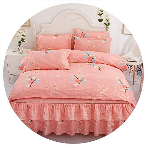 Romantic Printing Bedding Sets 4pcs Family Set Bed Sheet Duvet Cover Pillowcase Bedroom Decoration Flower Printed Bedspread,18,150x200cm