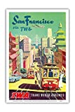 Pacifica Island Art San Francisco California - Trans World Airlines TWA - Vintage Airline Travel Poster by David Klein c.1950s - Master Art Print - 12in x 18in