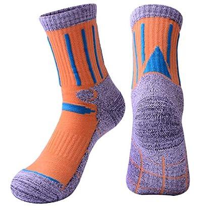 3 Pairs Men Women Hiking Walking Socks - UK Size 2-6.5, Anti Blisters, Soft, Warm, Comfortable, Breathable Nature Cotton… 4