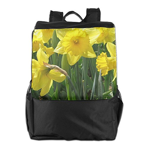 Shoulder for Yellow Backpack Men Adjustable Camping HSVCUY School Dayback Personalized Storage and Flowers Strap Women Outdoors Travel WqwTWz1AO