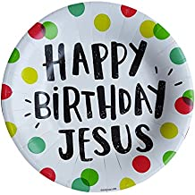 Happy Birthday Jesus Party Supplies Paper Dessert plates Serves 20