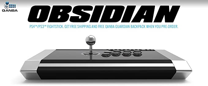 Qanba Obsidian Joystick for PlayStation 4 and PlayStation 3 and PC ...