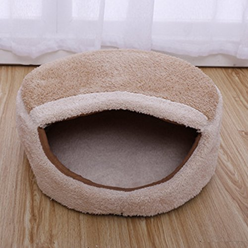 Vollter Perrito del gato del perro cómoda cama caliente suave de la felpa de la fresa mascota perrera de la casa