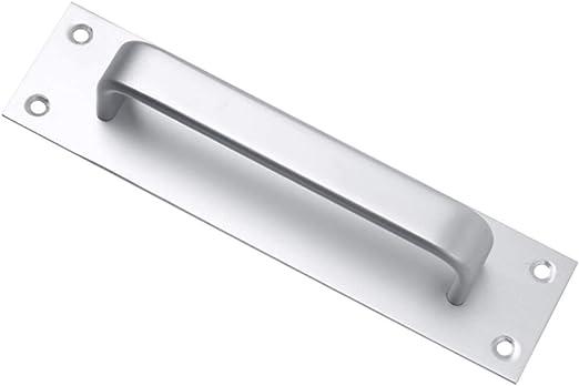 Letitia Útil Puerta corredera de aleación de Aluminio montado en la Pared manija Puerta Puerta Puerta de habitación Empuje Placa de manija: Amazon.es: Hogar