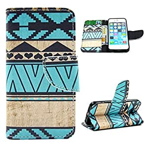 For Apple Iphone 5 5S Case, LEMORRY Personality Fashion Stripe Premium PU Leather Card Slot Wallet Holster Flip Magnetic Strap Stand Protective Cover