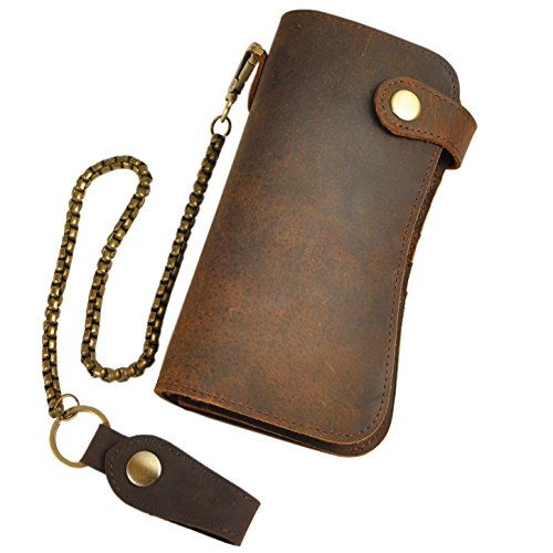 leaokuu-mens-genuine-leather-bifold-wallet-organizer-checkbook-iron-chain