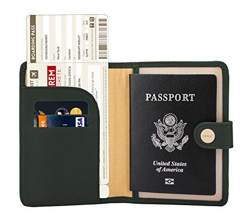 - Zoppen Rfid Blocking Travel Passport Holder Cover Slim Id Card Case (#24 Olive Green)