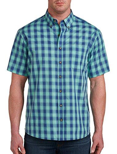 Harbor Bay DXL Big Tall Easy-Care Medium Plaid Sport (Bay Plaid Shirt)