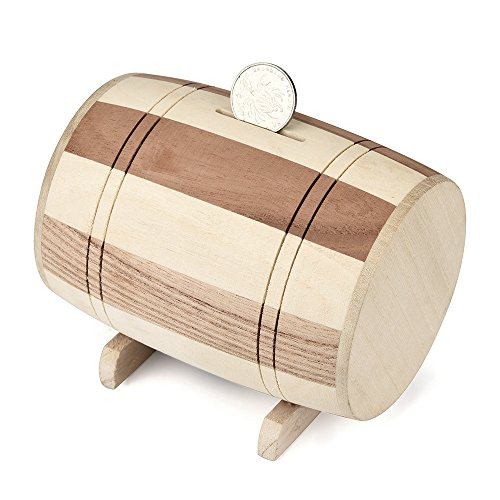 Fan-Ling Wooden Piggy Bank,Safe Money Box Savings,Wood Carving Handmade,Cash Safe Case,Unique Gifts for Kids Boys Girls and Adults, 11x8x9cm(C) (Toothbrush Inflatable)