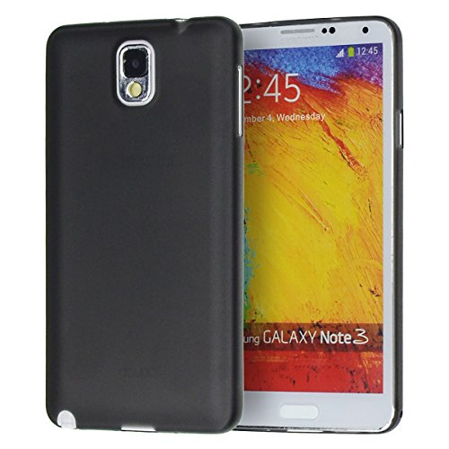 doupi UltraSlim Case Samsung Galaxy Note 3 Fine Matte Feather Light Bumper Protector Sleeve Skin Cover - Black