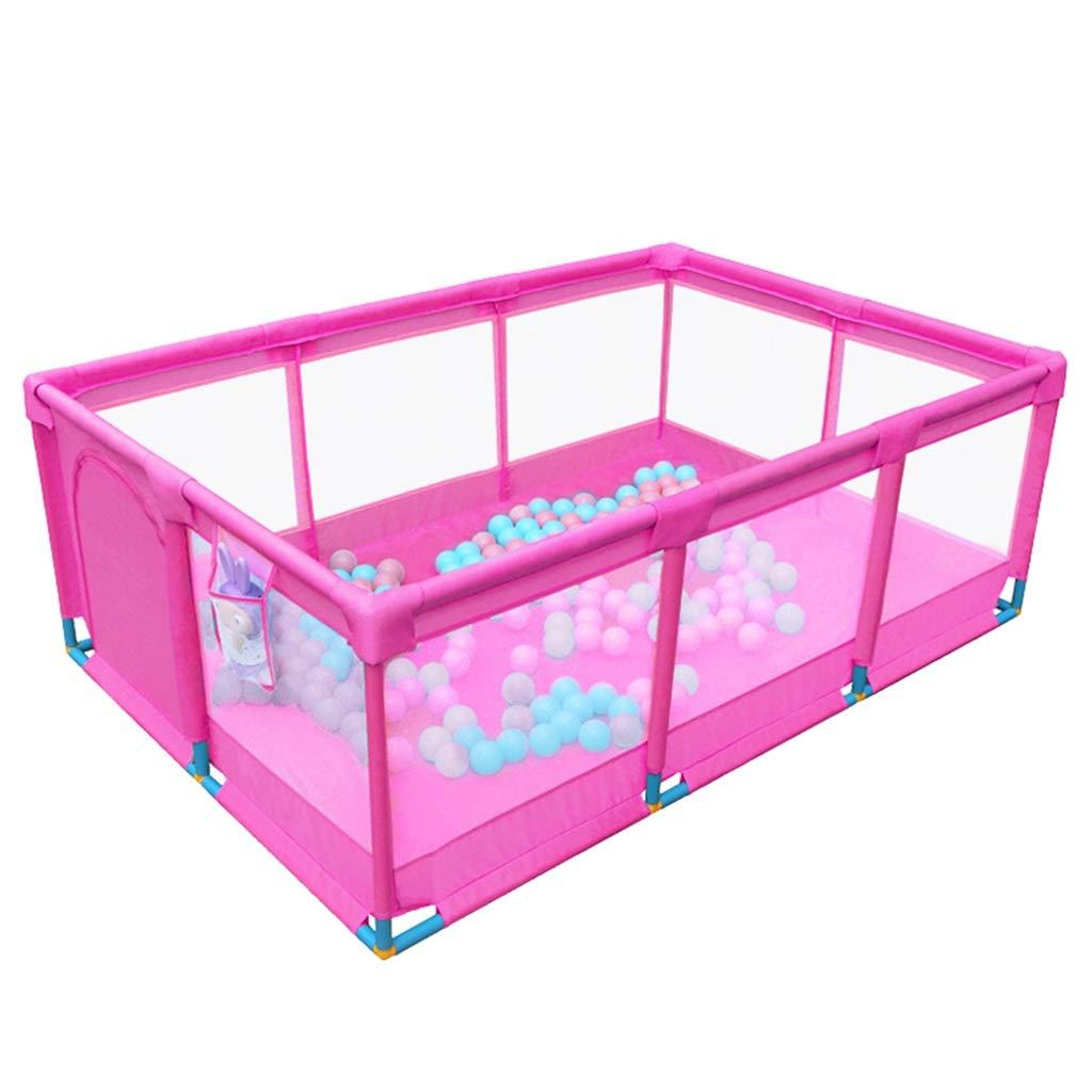 大人の上質  ベビーサークル 128×128×66cm 特大の赤ん坊の演劇のペンの双子 - (サイズ ドアが付いている安全反ロールオーバーの子供のベビーサークル、通気性の網の幼児の演劇の庭、ピンク (サイズ さいず : さいず 128×128×66cm) 128×128×66cm B07P46LS9D, HEIRIEH(エイリエ):ec391897 --- a0267596.xsph.ru