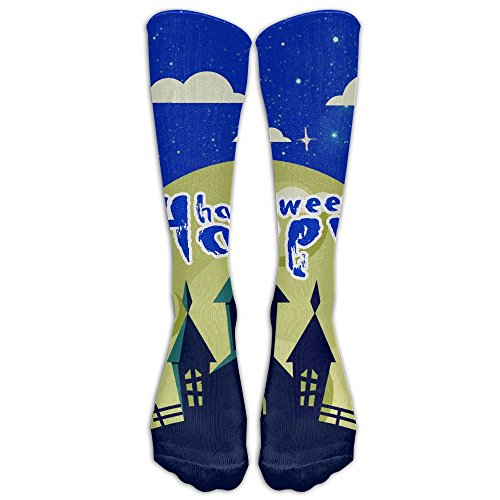 Happy Halloween Mysterious Castle Compression Socks Football Socks Sports Stockings Long Socks