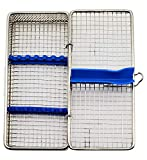 "Stainless Steel Sterilization Cassette for 7 Pieces MESH Tray Box 8""X4.24""X1.50"" ARTMAN Brand"
