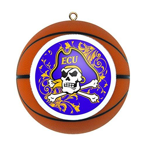 NCAA East Carolina Pirates Replica Basketball Ornament