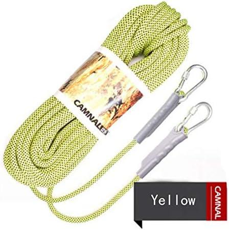 クライミングロープ安全ロープクライミングロープ脱出ロープ装置屋外クライミングアクセサリー、直径10.5 mm長さ10 m。