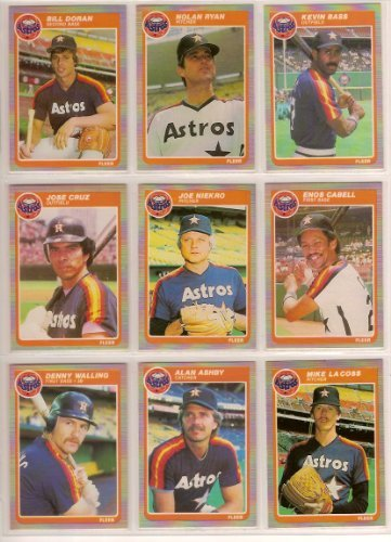 Houston Astros 1985 Fleer Baseball Team Set W Year End Update Cards