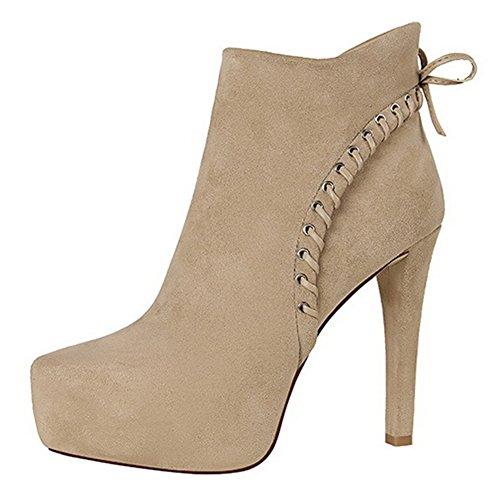 Low Femme Plateforme Bottines Abricot Chic Boots Aisun dtwFqF