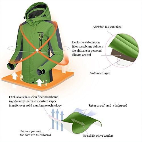 Waterproof Jacket Raincoat Women Sportswear-GIVBRO 2017 New Design Outdoor Hooded Softshell Camping Hiking Mountaineer Travel Jackets