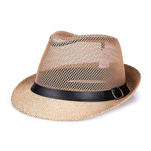 Cuban Style Fashion Mens Summer Hat Breathable Casual Floppy Jazz Hat for Men and Women Popular Fedora ()