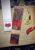 Sweetheart Daisy the Tabby Kitty Cat Kitten Photo Bookmark w/ Cloisonne Fish Beads Heart Pillows Valentine's Fine Art Photography Photo Laminated Handmade Bookmark
