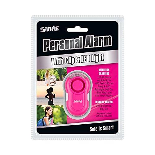 Alarma Personal Sabre - Anti Robo / Ataque 120db 185m Rosa