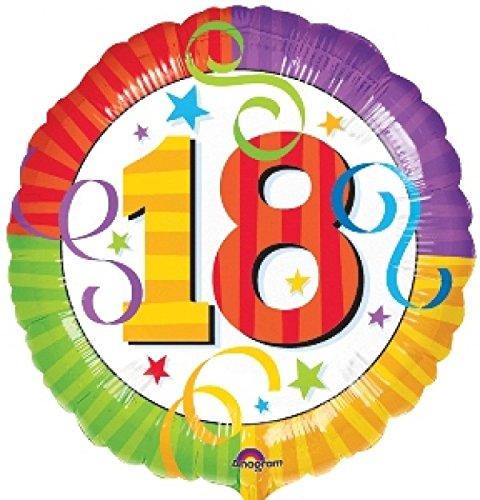 Globo de helio con 18 cumpleaños de la perfección de ...