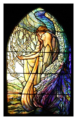 The Guiding Angel inspired by Louis Comfort Tiffany Counted Cross Stitch Pattern (Angel Cross Stitch Pattern)